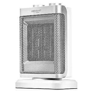 Cecotec Ready Warm 6100 Ceramic Rotate - Calefactor Cerámico Oscilante, 3 Modos, Termostato Regulable, Sistema Antivuelco, Protección sobrecalentamiento, 1500 W
