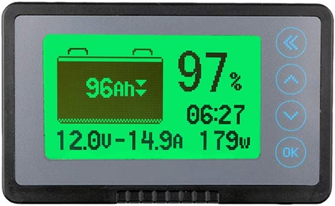 AiLi 500A Battery Monitor High Low Voltage and Low Capacity Programmable Alarm Compatible with 10-120V Lithium Sealed Gel Flooded Batteries Capacity up to 9999 Ah