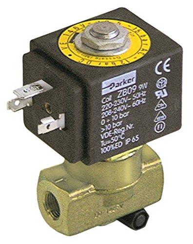 SCEM PARKER Magnetventil für Kaffeemaschine Vibiemme Domobar-Super-Manuale, Domobar-Super Messing 230V 2-Wege Eingang 1/8' DN 3