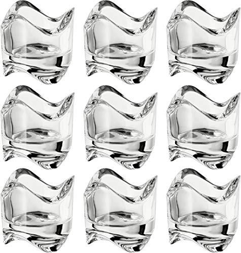 Ikea Väsnas 602.590.96 Teelichthalter aus klarem Glas, stapelbar, 6,4 cm, 24 Stück