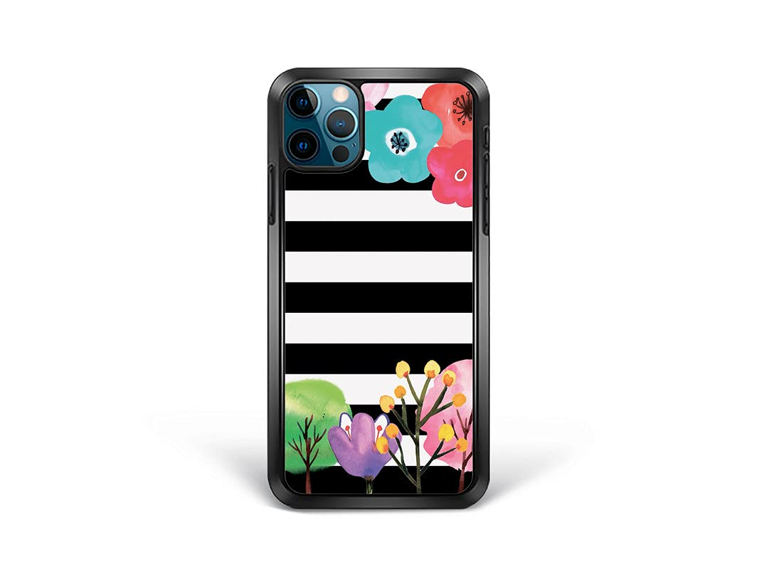 Bonito-store Washington Mall iPhone 8 Cover Striped Max 53% OFF Flowers Cute Plants Trees