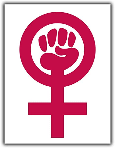 Feminism Symbol Feminist Tin Wall Signs Warning Posters Metal Vintage Art Cafe Bar Shops Public Places Farms Animals Architecture Christmas Easter Gifts
