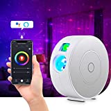 AOSCWALD Star Projector, Galaxy Star Projector with Multi-Color Moving Laser LED Nebula, APP Voice Control Smart Star Sky Night Light for Kids Bedroom Home Theater, Party Bar Mood Light Ambiance