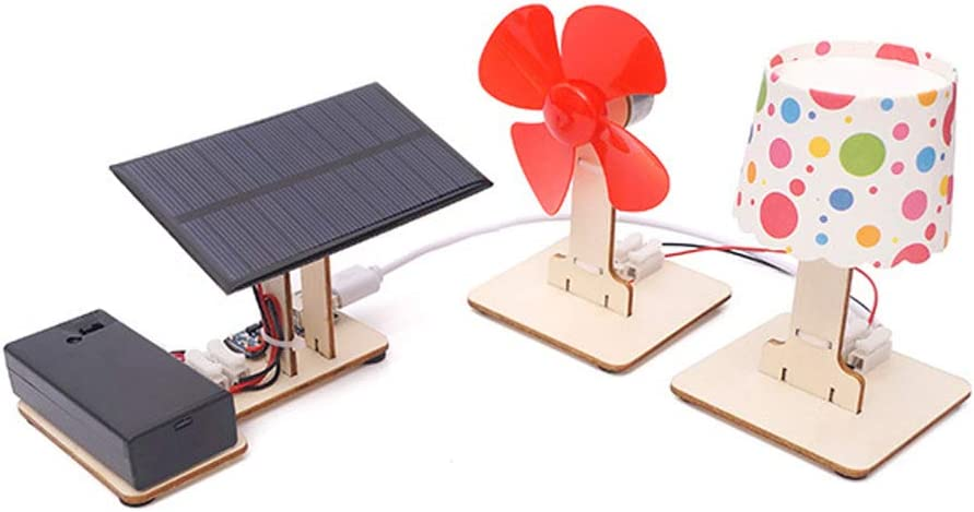 Solar Windmill Cottage DPDSCVY DIY Science Handmade Solar Toy Series Kits Multiple Styles of STEM Educational Toys Kit Handmade Toys That Can Cultivate Interest in Science for Kids Ages 6+