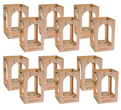 Kinder Holzlaterne zum Basteln von Avantgarde 12er Set