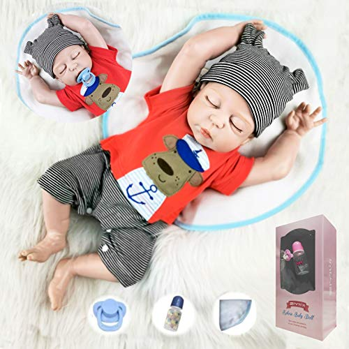 ZIYIUI 20 Pulgadas 50 cm Bebé Realista Vinilo de Silicona de Cuerpo Completo Muñecas de bebé renacidas Realista Recién Nacido Bebé durmiendo Muñecas