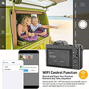 4K Digitalkamera, ACTITOP Digitale Videokamera Ultra HD 48MP WiFi YouTube Vlogging-Kamera 16X Digitalzoom 3,5-Zoll-IPS Touchscreen mit Weitwinkelobjektiv, Makro Lenkung, LED Licht und 2 Batterien