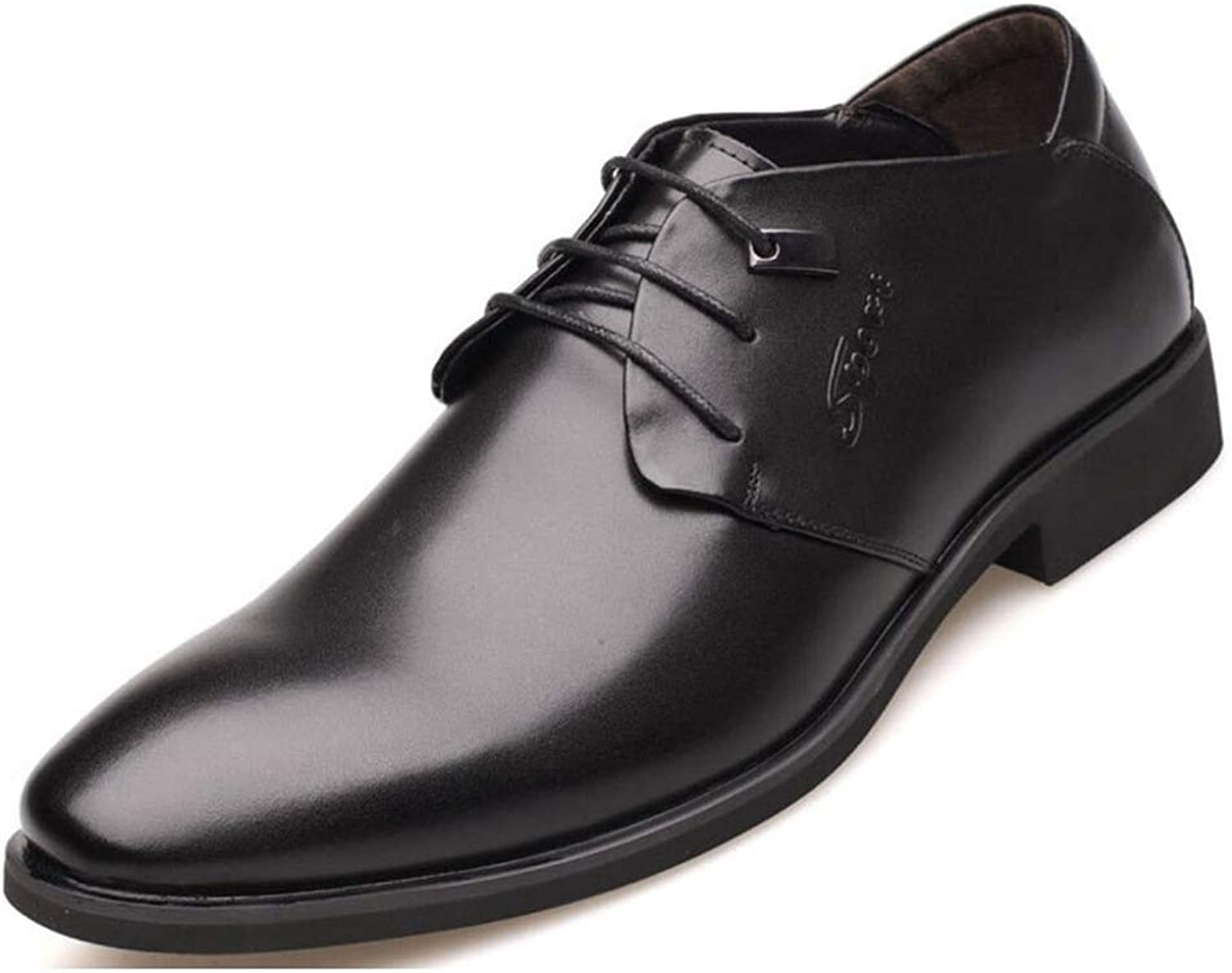 WLFHM Men's shoes, Business Casual shoes, with Pointed Toe, Single shoes