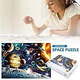 LiféUP Rompecabezas Espaciales Rompecabezas de 1000 Piezas para Adultos Juegos Educativos Desafío Cerebral Cartones Planetas en el Espacio Rompecabezas