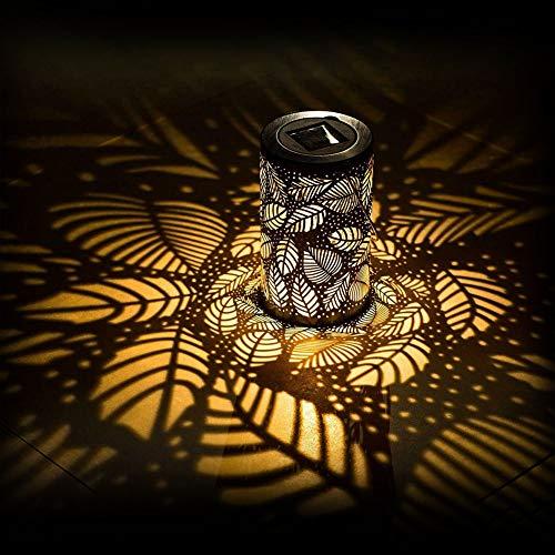 LYXMY Linterna LED Solar de Viento, lámpara Colgante de Estilo Vintage, Impermeable,...