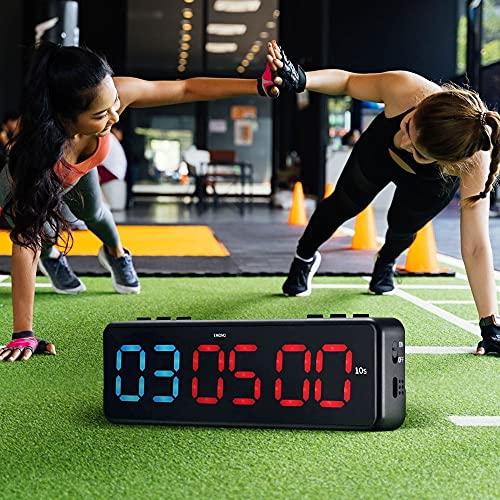 SEAAN Digitaler Fitness-Timer LED mit Bluetooth APP-Steuerung, Wall Gym Timer mit 11 Timing-Modi Entwickelt für Crossfit, Tabata, EMOM, MMA