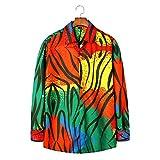 Camisa de Manga Larga para Hombre, otoño e Invierno, Camisa Estampada Personalizada a Juego con el Color Americana S