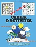 Cahier d'activités pour enfants a partir de 6 ans: Sudoku dessin mots mêles Coloriage labyrinthe Livre de jeux amusants pour les Enfants 6 ans et plus / idée cadeau fille et garcon / Grand format /
