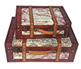 2st Replica vintage-style World Map Decorative wooden suitcase (HF 004)