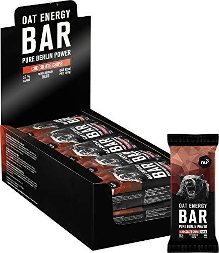 nu3 15 Barrette Energetiche Avena + Cioccolato da 100g | Barrette Biologiche e Vegane Oat Energy Bar con il 60% di Carboidrati con Burro di Cacao e Va