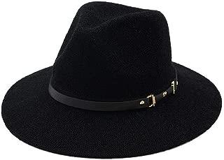 LiWen Zheng Unisex Panama Hat With Black Band Straw Hat for Men Women Classical Jazz Cap Wide Brim Fedora Summer Sun Beach Cap