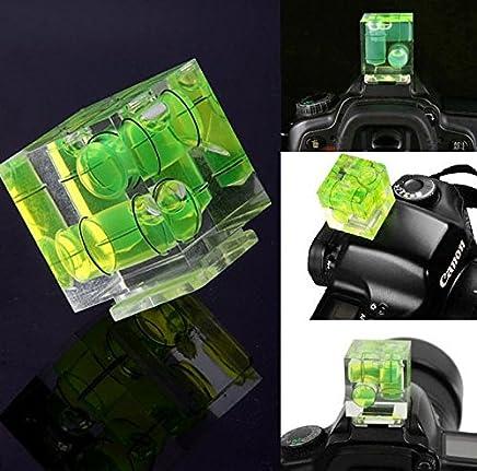 nalmatoionme Pro tres Axis nivel de burbuja zapata adaptador para Canon Nikon Cámaras (verde)