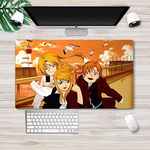 Fullmetal Alchemist Mouse Pad Anime Game Mouse Pad grande escritorio teclado computadora escritorio pad escritorio pad escritorio pad oficina mouse pad Edward Elric Alphonse Elric Winry Rockbell Alfombrilla de escritorio tapete de mesa 73