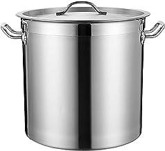 Voorraad Pot, 304 RVS Soepemmer met deksel, Commercieel/Binnenlandse Congee/Bruin Vleespot, Opslag Barre, voor Gasfornuis/...