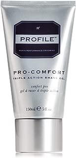 Profile PRO-COMFORT Triple Action Shave Gel - Non Aerosol Gel Shaving Cream For Men, Prevents Razor Burn and Bumps (5 fl oz.)