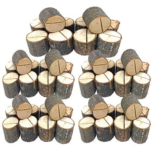 50 St/ück Tischkartenhalter aus Holz f/ür Hochzeiten Party-Dekoration Tischnummern f/ür Zuhause