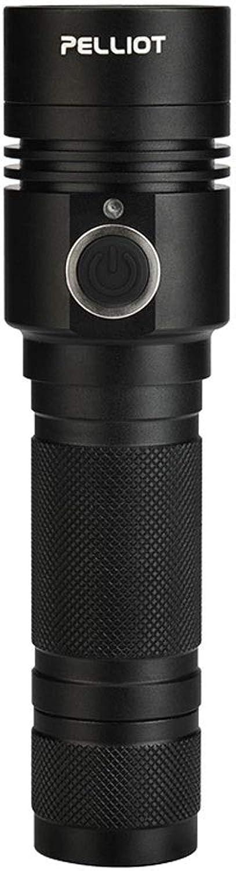 FTLY Outdoor-Taschenlampe Blendung Einstellbarer Fokus Totale Licht Multifunktions-Haushalt Tragbare wiederaufladbare LED Außenleuchte Intelligentes Kühlsystem Leben Wasserdichte Handlampe B07PRF8WQ9 | Elegante und robuste Verpackung