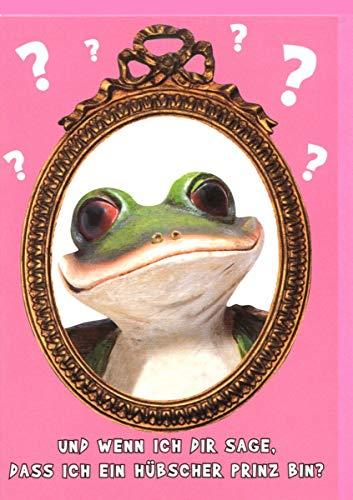 Lustige Geburtstagskarte Frosch: ich bin ein Prinz