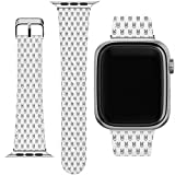 Cavka Wrist Band Replacement for Apple Watch Series 1/2/3/4/5/6/SE Printed Design Hardcore PU Leather Classy Rock Pattern Boy Replacement Strap 38-40-42-44 mm Crazy On Art Fancy Slim fit Bracelet Cute