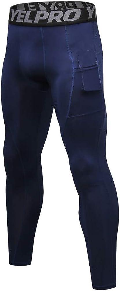 Herren hose Workout Gym Long Pants Anliegende Mit Schnell Elastischer Kompressionshose Hose Compression Tights Laufhose Laufhose Laufen Tragegef/üHl Durch Hohen Stretchanteil