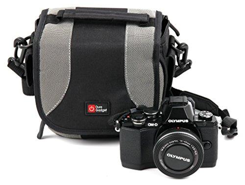 DURAGADGET - Custodia multitasca + cordino di trasporto per Olympus Om-D E-M10, M5 Mark II e Pen E-PL7 fotocamere