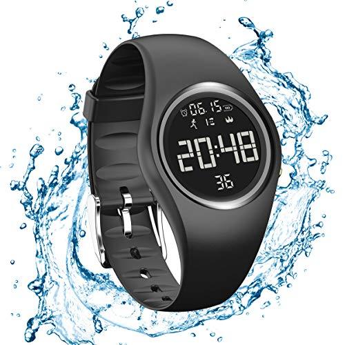 Podomètre Bracelet Tracker d'activité Pas de Bluetooth Pas d'Applis Compteur de Pas Compteur de Calories Calculateur de Distance Charge d'usb pour Marcher Running Course a Pied Femme Homme Enfant