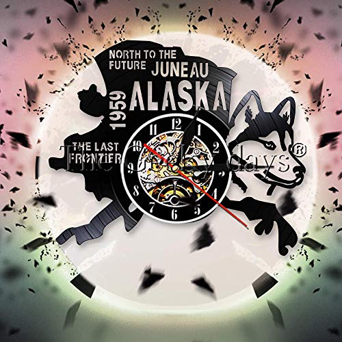 JXCDNB Future Juno Alaska - Reloj de pared de la última frontera...