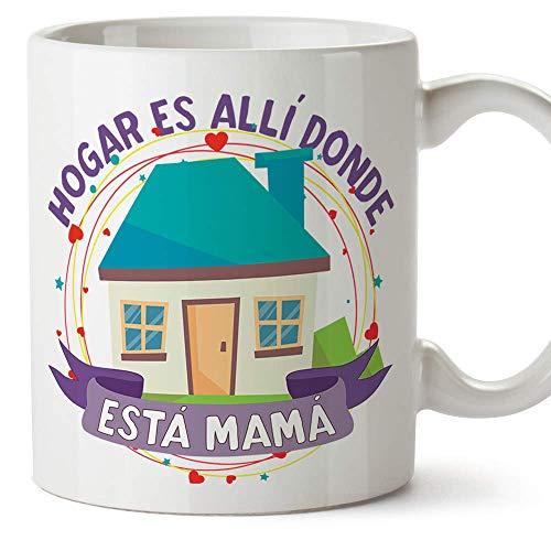 MUGFFINS Tazas para Mamá –Hogar Mamá (Modelo 1) – Regalos para el día de la Madre/Desayunos originales