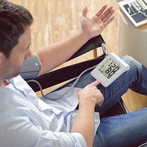 Medisana BU 530 Tensiomètre à bras, affichage de l'arythmie, échelle de couleurs des feux de circulation de l'OMS, une mesure précise de la tension artérielle et du pouls avec fonction mémoire et app