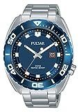 Pulsar Reloj analogico para Hombre de Cuarzo con Correa en Acero Inoxidable PG8281X1