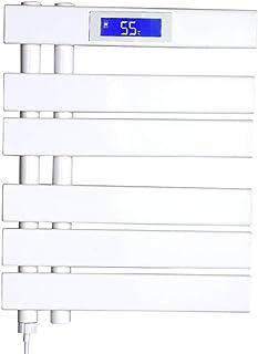 Hesily Radiador Toallero Agua Calefaccion Negro Toallero EléCtrico De Pie, 780 * 550 Mm Radiador TermostáTico EléCtrico De Panel Plano con CalefaccióN EléCtrica TermostáTico