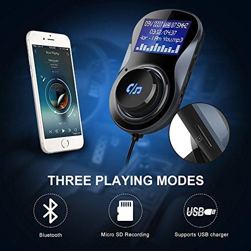 Guzack Trasmettitore FM Bluetooth 4.1 per Auto con...