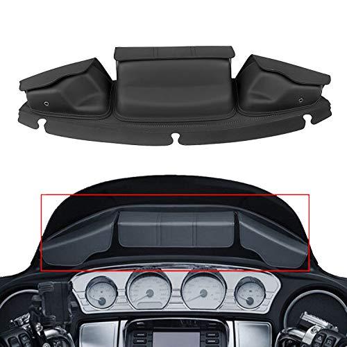 Bid4ze 3Pocket Batwing Fairing Pouch Windshield Bag For Harley Electra Street Tri Glide 2014-2019
