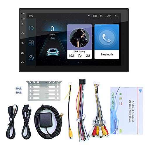 Youmine 7 Pulgadas Android 10.1 2 DIN Car Radio Multimedia VíDeo MP5 Reproductor WiFi GPS Auto EstéReo Radio EstéReo USB FM para Coche