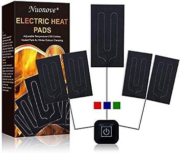 Almohadilla Eléctrica para Ropa, USB Almohadilla Termica, Térmico Almohadilla, 5 V 2 A Cojín de Calefacción Eléctrica para Ropa Temperatura Ajustable, con 3 Niveles de Temperatura, Lavable