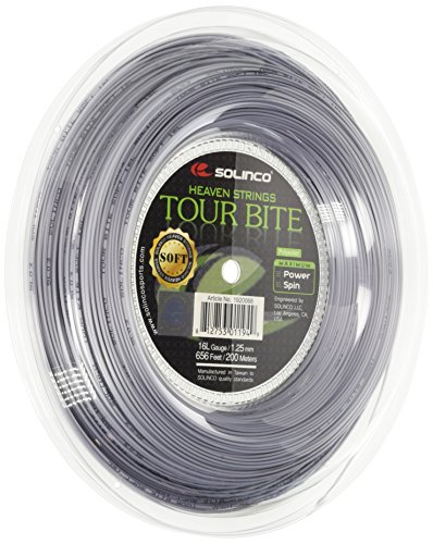 Solinco Saitenrolle Tour Bite Soft, Silber, 200 m, 0555220122000010