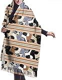 Irener Bufanda de mantón, Scarf Great Dane Stripe Dogs Womens Large Soft Cashmere Feel Shawls Wraps Light Stole