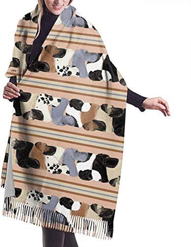 Irener Bufanda de mantón, Scarf Great Dane Stripe Dogs...