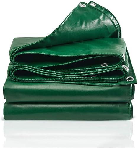 Baches LAOSUNJIA imperméable extérieure en Plastique de (Couleur   vert, Taille   6M×5M)