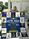 Noda-Notre Dame Fighting Irish Sherpad Blanket Gift for Anniversary, Mother's Day, Father's Day, Birthday, Made in US