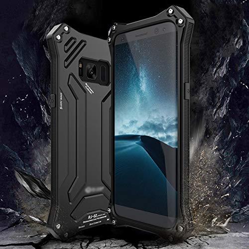 LASTARTS Caja de teléfono móvil antideslizante Carcasa de metal duro Carcasa de teléfono móvil Carcasa de teléfono para Samsung S8, S8 Plus, S9, S9 Plus, Note8 Carcasa de teléfono móvil a prueba de ca