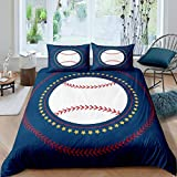 Erosebridal Kids Baseball Comforter Cover Queen Size for Child Girls Boys Teens Adult Sports Games Theme...