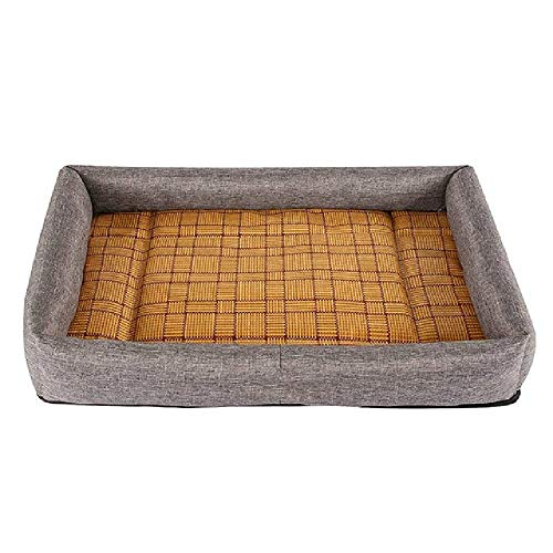U/A Summer Dog House Bed Lovely Puppy Sofa Kennel Comfortable Pet Dog Cool Cat Bed Durable Dog Pad Teddy Mats Cool Puppy Supplies