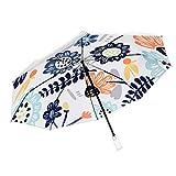Paraguas Plegables, 8 Costillas Paraguas Plegable A Prueba De Viento Compacto De Viaje Sombrilla, Auto Apertura/Cierre Grande Lluvia Paraguas, Paraguas Protección UV For Las Mujeres, Regalo For La F