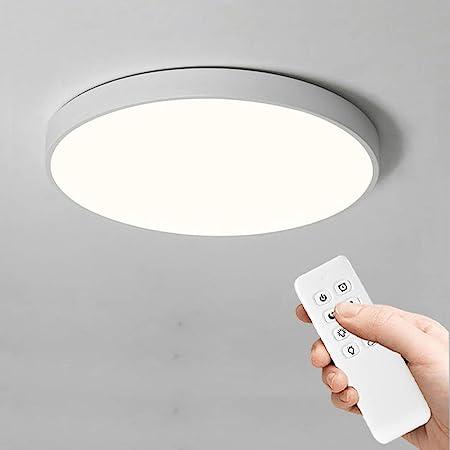 Anten 24W Plafonnier LED Dimmable Ultra-Mince Lampe de Plafond avec Télécommande IP40 Lampe Plafonnier Couleur Température Réglable LED Plafonnier pour Salle Bain, Couloir, Salon, Chambre, Balcon,ect